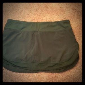 Lululemon skirt with shorts under